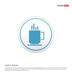 Warm drink icon - white circle button vector