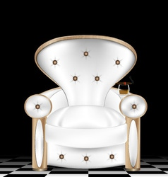 white armchair vector image