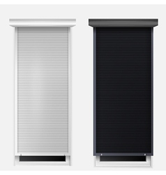windows with louvers vector image