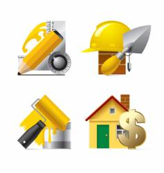 building website and internet icons vector image