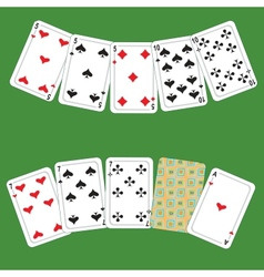 Card poker vector image