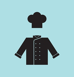 Chef Hat and Shirt vector image vector image