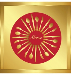 menu cover vector image vector image