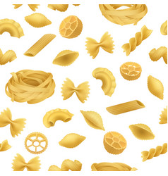 pasta pattern seamless realistic style vector image
