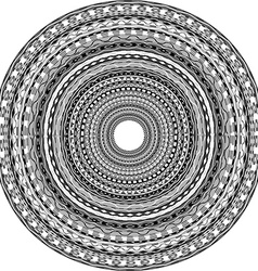 Round ornament with tribal motifs vector image