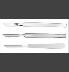 Set of medical scalpels vector image