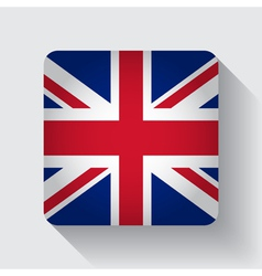 Web button with flag of the UK vector image vector image