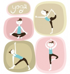 zen and yoga icons vector image vector image