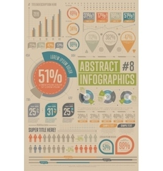 Abstract infographic elements Graph icon vector image vector image