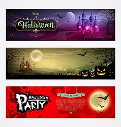 Happy Halloween collections banner design vector image vector image