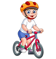 Kid on bicycle vector