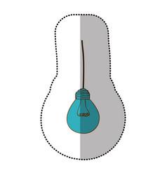 light bulb hanging icon vector image