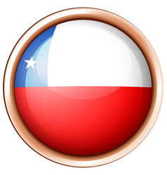 round badge with chile flag vector image vector image