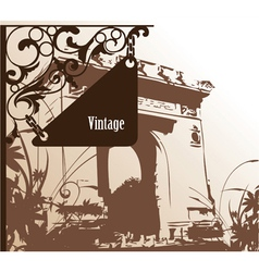 wrought iron sign vector image