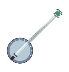 Banjo flat icon vector image vector image