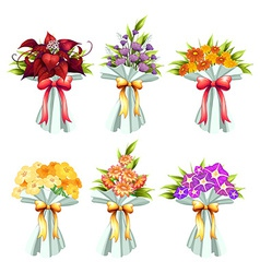 Flower bunches vector image vector image