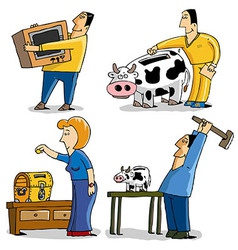 saving money vector image vector image