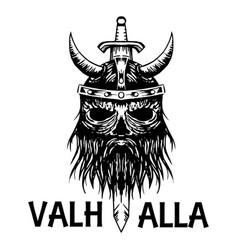 Valhalla symbol of scandinavian ancient viking vector