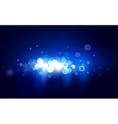 Blue horizontal bokeh vector image