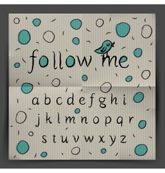 Handwriting Alphabet - Follow me vector image vector image