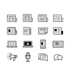 Media icons set - Simplus series vector image