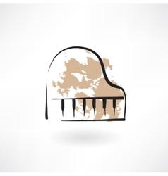 piano keyboard grunge icon vector image vector image