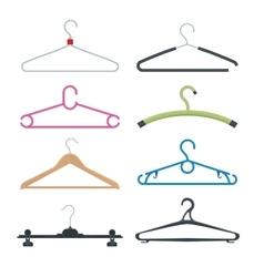 Set of hangers flat vector image