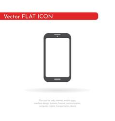 smartphone mobile icon flat design vector image