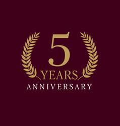 5 anniversary royal logo vector