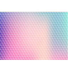 abstract gradient vibrant color hexagon pattern vector image