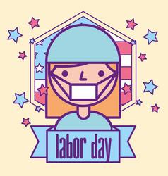 American labor day vector
