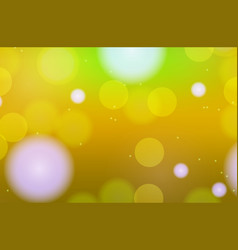 Background template design with lights on yellow vector
