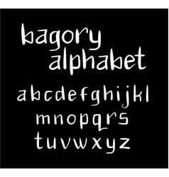 bagory alphabet typography vector image