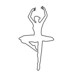 ballet dancer the black color icon vector image