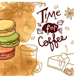 Beautiful hand drawn coffee vector