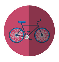bicycle sport wellness lifestyle vector image