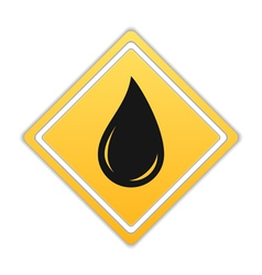 Black Oil Drop Icon vector image