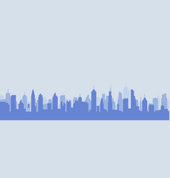 Cityscape silhouette urban city vector