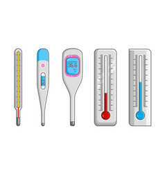 Classic mercury and electronic thermometers vector