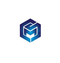 cms letter based symbol version 2 vector image