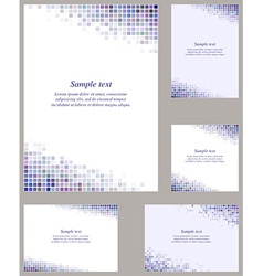 Colorful page corner mosaic template set vector