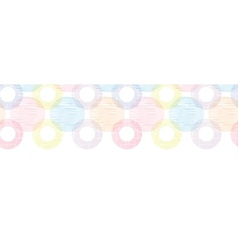 Colorful textile circles horizontal seamless vector image