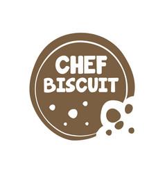 Crispy biscuit food logo snack logo home baking vector