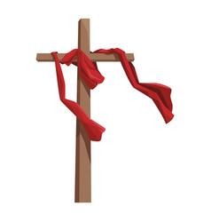 cross catholic symbol vector image