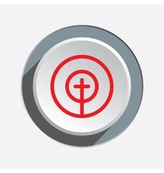 Crosshair sign icon Target end objektive aim vector