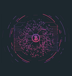 Crypto currency concept vector