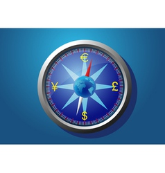 currency of the world on the compass vector image