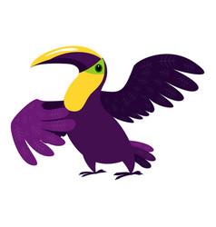 Dancing toucan icon cartoon style vector