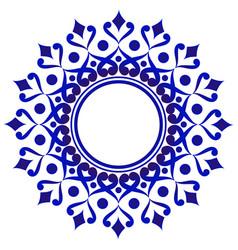 decorative floral frame vector image