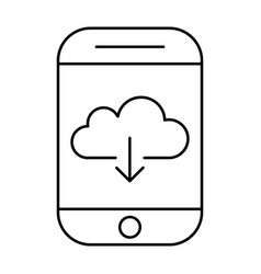 Downloading from cloud storage using smartphone vector